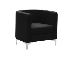 Miko Single Seater Tub Reception Chair Colour Black