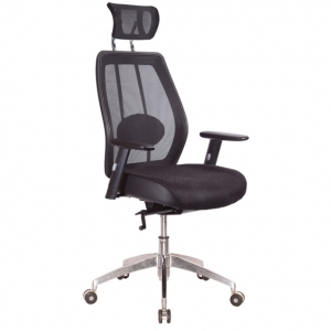 Alto Managers Black Mesh Back Chair with Arms & Headrest Office Chair