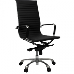 Aero Executive Boardroom High Back Black PU Office Chair