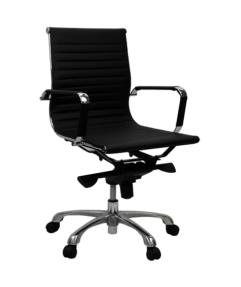 Aero Executive Black PU Medium Back Office Chair IOffice