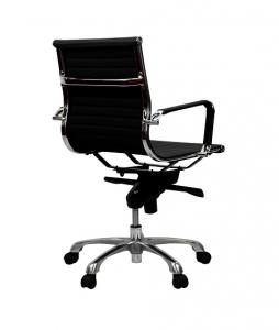 Aero Executive Boardroom Med Back Black PU Office Chair