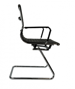 Aero Visitors Cantilever Black PU Office Chair