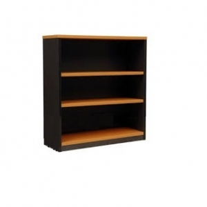 Essentials Express Commercial Open Bookcase 900H Colour Beech/Charcaol