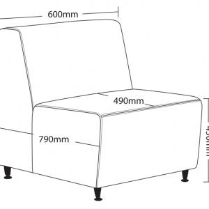 Blitz Single Lounge Chair Dimensions