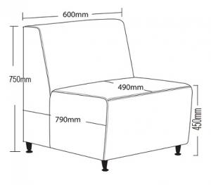 Blitz Single Lounge Dimension