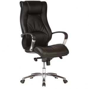 Camry Exectuive HB Black Bonded Leather Office Chair with Arms