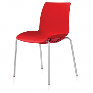 Case Visitors 4 Leg Red Poly Chair