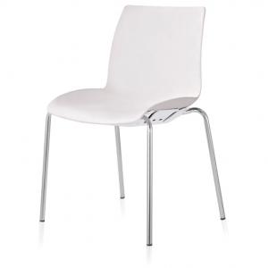 Case Visitors 4 Leg White Poly Chair