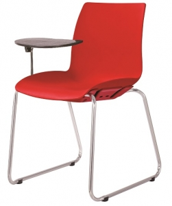 CASE AFRDI Approved Training Chair Sled Base with Tablet Arm Red