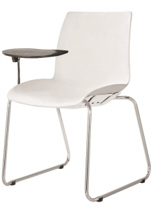 CASE AFRDI Approved Training Chair Sled Base with Tablet Arm White