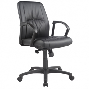 Civic Managers MB Black PU Office Chair with Arms