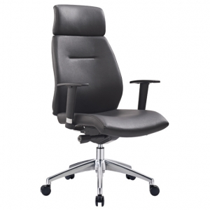 Clark Executive HB Black PU Office Chair with Arms
