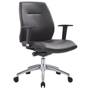 Clark Executive MB Black PU Office Chair with Arms