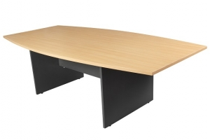 Essentials Express Commercial Boardroom Table 2400W Colour Beech/Charcoal