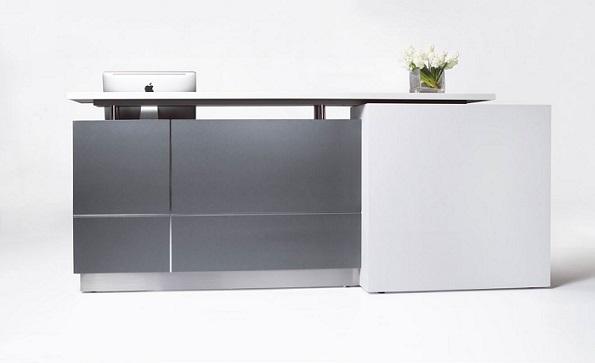 Calvin Designer 2500W Reception Counter Metallic Grey ...