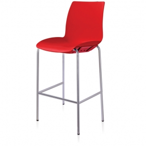 Case Visitors 4 Leg Red Poly Stool