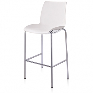 Case Visitors 4 Leg White Poly Stool
