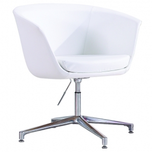 DEMO Visitors Waiting Room Chair White Bonded Leather