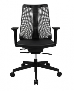Webber Executive High Back PU Mesh, Padded Seat Black Office Chair