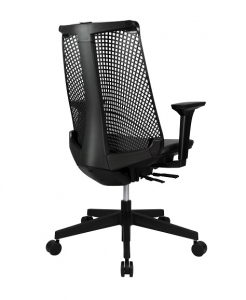 Webber Executive High Back PU Mesh Black Office Chair with Arms Office Chair