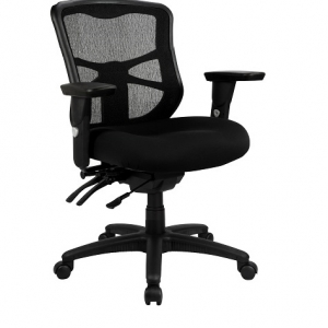 Ultimo Operators Med Back Mesh with Upholstered Seat & Arms Black Office Chair