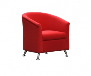 Opera Single Seater Reception Lounge Red Fabric