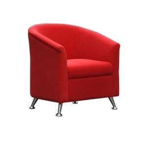 Opera Single Seater Reception Lounge Red Fabric