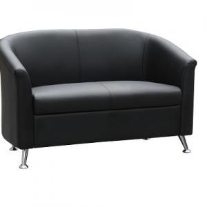 Opera Two Seater Reception Lounge Black PU