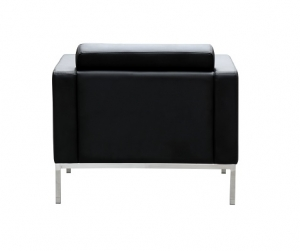 Como Single Seater Black Leather Reception Lounge