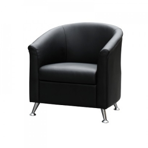 Opera One Seater Reception Lounge Black PU