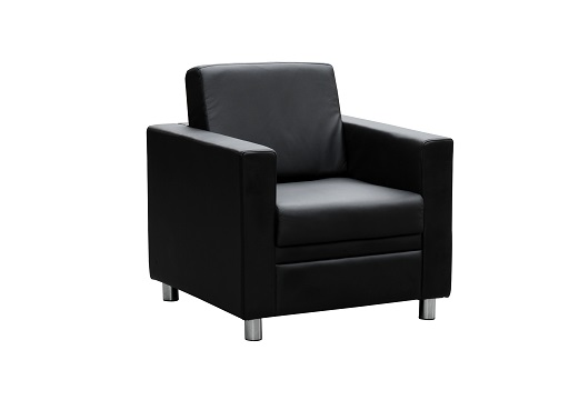 marcus single seater reception black leather sofa ioffice
