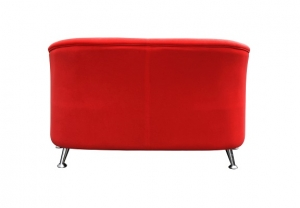Opera Two Seater Reception Lounge Red Fabric