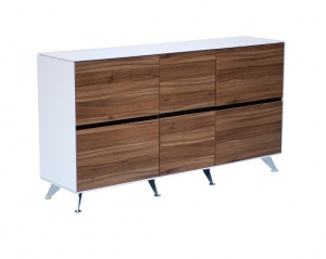 Potenza Modern Executive Buffet Colour Casnan/White