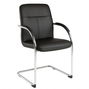 EVA Visitors Chair Black PU