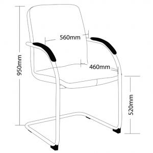 EVA Client Chair Dimensions