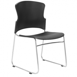 Focus - Adam Visitors Sled Base Black Poly Chair