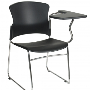 Focus Training Black Poly Chair with Tablet Arm-LHS