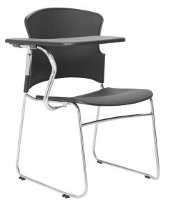Focus Training Black Poly Chair with Tablet Arm-RHS