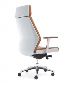 Evolution Designer Executive High Back Brown Leather Office Chair