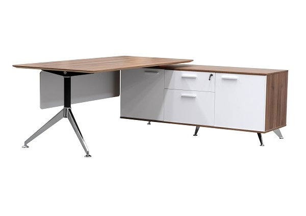 Desk With Return : Potenza executive office desk w with return buffet