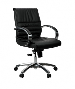 Franklin Executive Med Back Black Leather Office Chair
