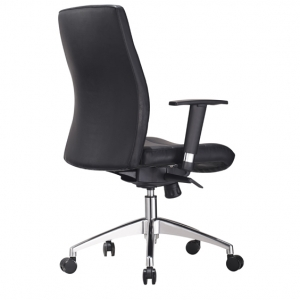 Hilux Managers HB Office Chair with Arms in Black PU