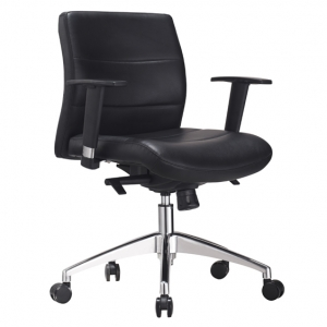 Hilux Managers MB Office Chair with Arms in Black PU