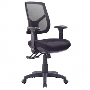 Hino Big Boy Mesh Back 3 lever Ergonomic Chair Black with Arms