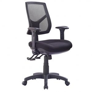 Hino Big Boy Mesh Back 3 lever Ergonomic Chair Black with Arms