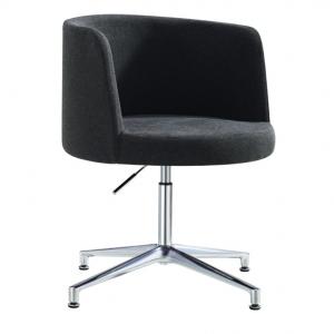 Hula Visitors Meeting Room Chair Charcoal Fabric