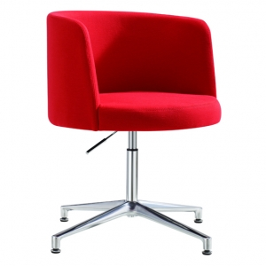 Hula Visitors Meeting Room Chair Red Fabric