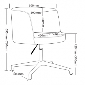Hula Client Chair Dimensions