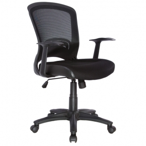 Intro Black Mesh Back Task Chair with Arms
