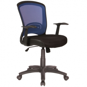 Intro Blue Mesh Back Task Chair with Arms